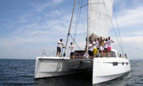 addio al celibato in barca vela a Rimini