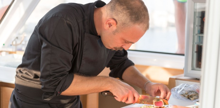 Cena a bordo nel marina di Rimini